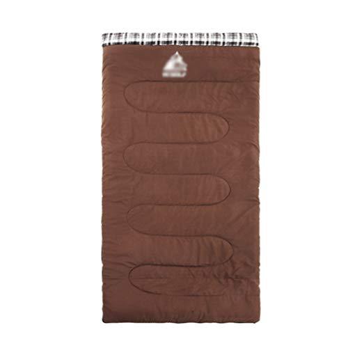 Yiiquanan Innen- und Außenbereich Schlafsack Verdicken Winter Warm Sleeping Bag für Wandern, Camping, Trekking (Coffee, 190 * 80cm)