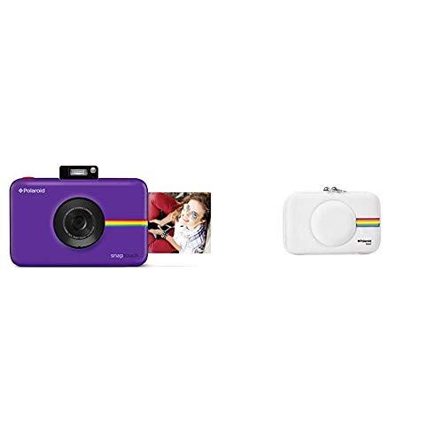 Polaroid Snap Touch 2.0 - Cámara Digital portátil instantánea de 13 MP,Bluetooth, Pantalla táctil LCD + PLSNAPEVAW - Funda (Funda, Polaroid, Polaroid Snap Instant Print Digital Camera, Blanco)