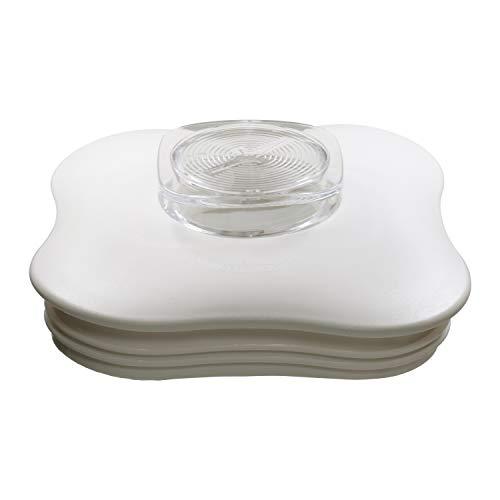 Blender Lid and Center Cap for Clover Leaf Shaped Oster Blender Jars, White Kentucky