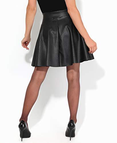KRISP Falda Corta Mujer Negra Vuelo Fiesta Elegante Boda Minifalda Plisada Ceremonia Cóctel Talla Grande, (Negro, 48 EU (20 UK)), 3082-BLK-20