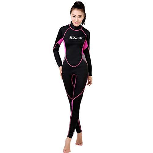 HERAHQ Men Women Full Body Surf Wetsuit 3 Mm Neoprene Triathlon Swimsuit Warm Scuba Diving Wet SuitWomenL