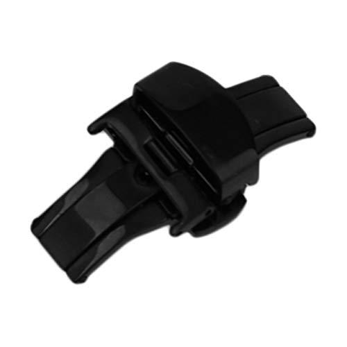 DBSUFV 18MM / 20MM / 22MM Hebilla de Reloj de Acero Inoxidable Durable Cierre de despliegue de Mariposa Plegable Doble Accesorios de Reloj Negro