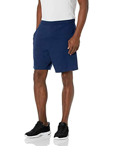 Hanes Men s Jersey Short with Pockets, Navy, Large