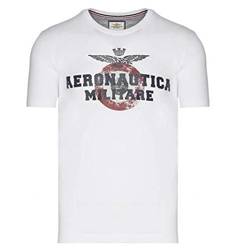 Aeronautica Militare Camiseta 1843 - Color - Blanco, Talla - XL