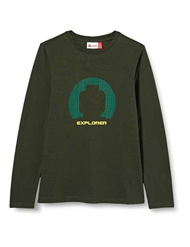 Lego Wear Jungen LWTOBIAS-Langarmshirt Explorer T-Shirt, 871 Dark Green, 134