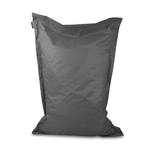 Sitzsack Bodenkissen Indoor Outdoor Riesensitzsack Größen & Farben wählbar Kinder Bean Bag Erwachsene Wasserabweisend Schmutzabweisend (Anthrazit-150x120 cm)