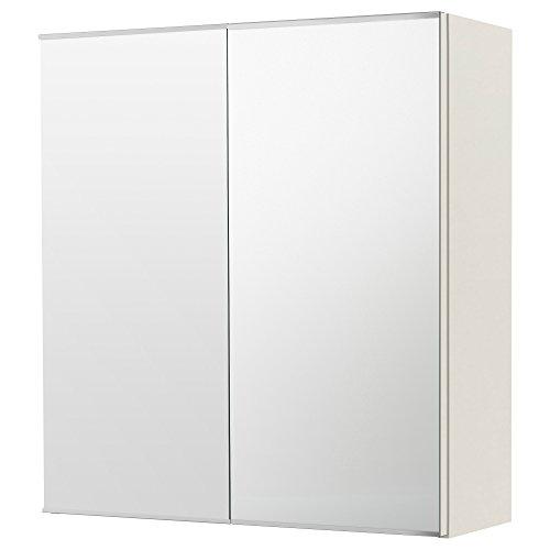 IKEA(イケア) LILLANGEN ミラーキャビネット 扉2枚付き ホワイト