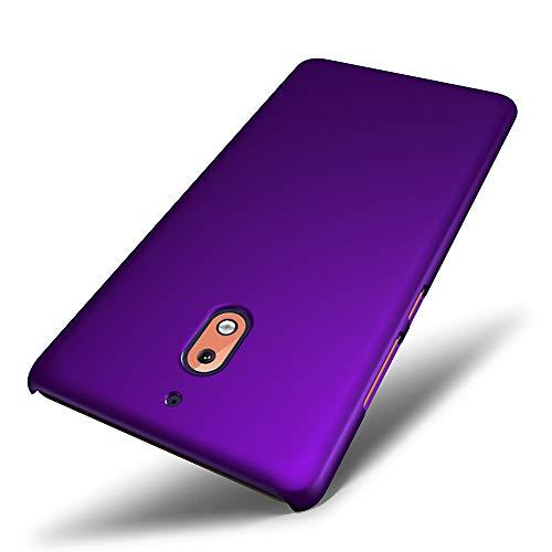 SLEO Custodia Nokia 2.1, Cover Nokia 2.1 [Protezione a 360 Gradi] Thin Fit, [Cover Sottile & Robusto] Rivestimento Soft-Feel, Ultra Leggero Protetto PC Duro Case per Nokia 2.1 - Viola