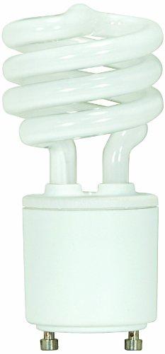 Satco S8226 13 Watt (60 Watt) 880 Lumens Mini Spiral CFL Neutral White 3500K GU24 Base Light Bulb