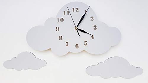 babees Niños Reloj De Pared Wolke, Reloj sin tickge räusche, niños reloj para habitación de los Niños, según los Reloj de pared, decorar, gris gris