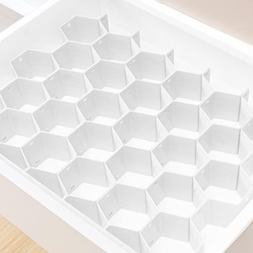Xnuoyo 8pcs Organizador de separadores de cajones, separadores de cajones, organizador de almacenamiento de cajones ajustables, caja de almacenamiento organizadora de panal para hogar cocina oficina