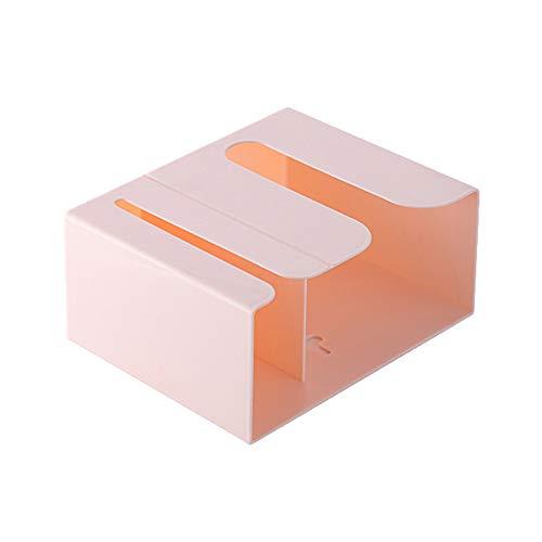 Jiaye, tovagliolo di carta da parete per riporre fazzoletti di carta e fazzoletti (colore: rosa)