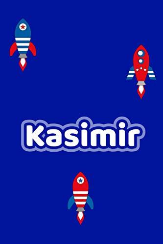 Kasimir: Personalisiertes Vornamen Notizbuch / Tagebuch - 120 Seiten - Punkteraster - Format 6x9 ca. DIN A5