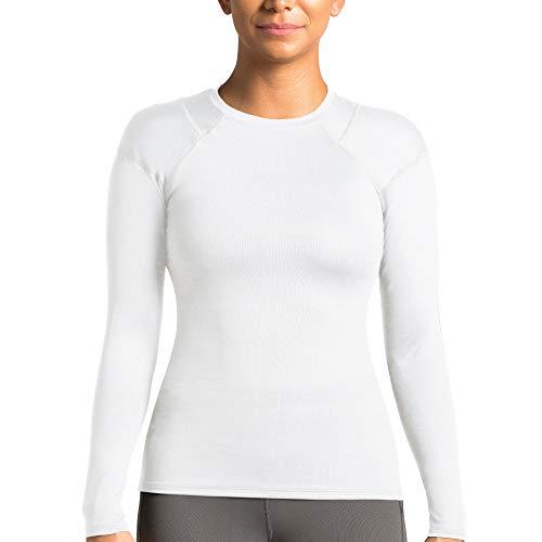 Tommie Copper Women's Long Sleeve Shoulder Support Shirt, White, Medium