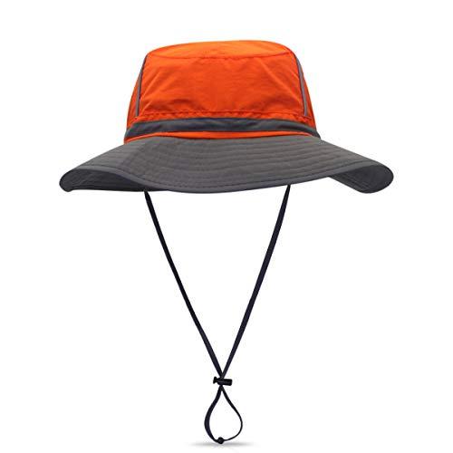 DORRISO Chapeau Soleil Unisexe Pliable Anti UV Outdoor Bucket Hat Étanche Multifonction Chapeau de Voyage Casquette Polyester