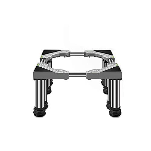 Tvättmaskinsstativ med 8 ben Universal Hög rack Anti Vibration Mute Justerbar längd/bredd 45-65 cm Kyl/frys Kylskåphållare Rostfritt stål rack