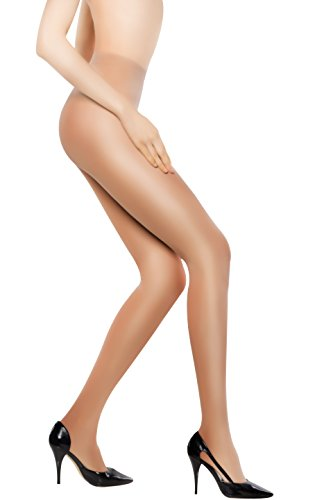 +MD Damen Strumpfhose 8-15 mmHg figurformende Kompressionsstrümpfe Stützstrumpfhose Feinstrumpfhose Nude M