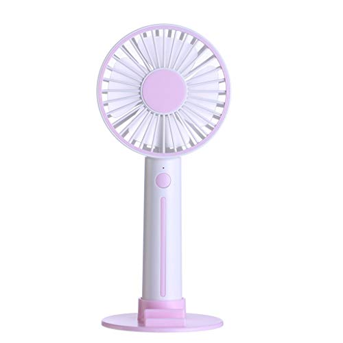 Kariwell Handheld Mini Fan,Rechargeable Portable USB Powered Cooling Fan for Office Dorms Outdoor Household Traveling Kari-29 (Pink)