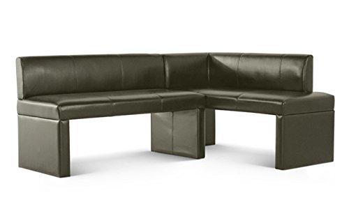 SAM Eckbank Malena I in hellgrau, Rechte Seite 130 cm, Linke Seite 180 cm, Sitzbank mit Rückenlehne aus Samolux®-Bezug, angenehmer Sitzkomfort