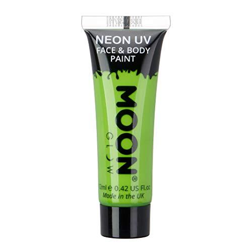 Moon Glow – Peinture fluo UV intense vert visage & corps 12 ml