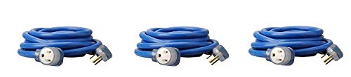 Southwire 19178806 8/3 Heavy-Duty STW 40-Amp/250-Volt Nema 6-50 Blue Welder Extension Cord, 25- Feet, 8-Gauge, STW jacket for Superior Performance, Rated at 40 Amps (3-(Pack))