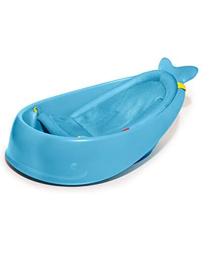 Skip Hop Wal Moby Badewanne, 3 Stufen, Anti-Rutsch, Bad für Babys, blau