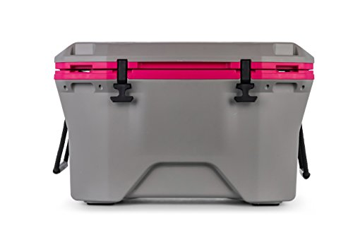 professional 30L Camco Currituck Gray and Pink Cooler – Long lasting for camping, hunting and more.