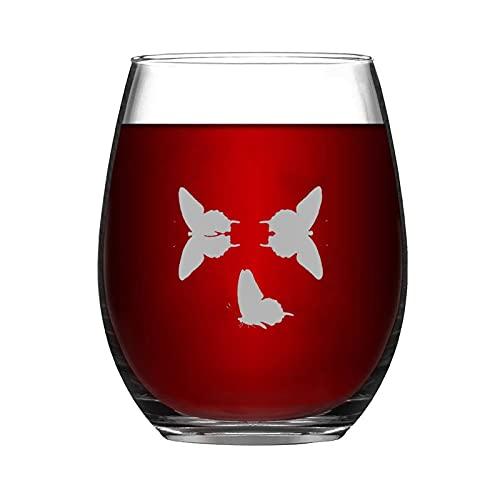 Papilio Asterias - Copa de vino sin tallo, vaso de whisky grabado, perfecto para padre, mamá, niño o amiga