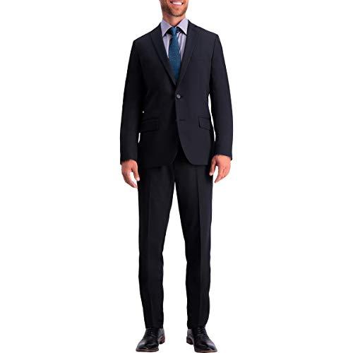 Haggar Men's Active Series Stretch Slim Fit Suit Separates - Black Jacket, 38R