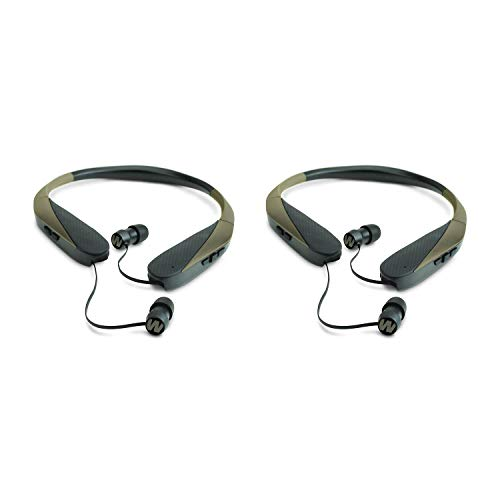 Walker039;s Razor XV Bluetooth Hunting Ear Bud Muff Headset Bundle (2 Pack), Retractable