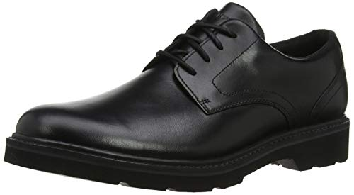 Rockport Derbys, Charlee Plain Toe Shoe Men, Black, 7 UK