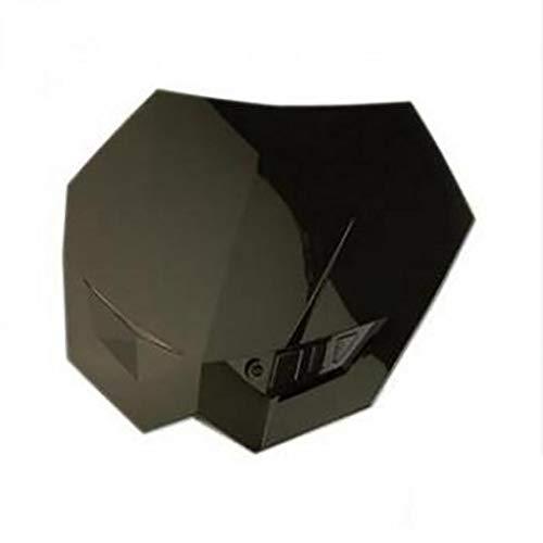 Plaque phare numéro avant tuning noire marque Tun'R look KTM avec fixation moto
