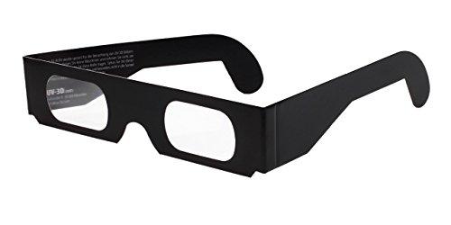 Chromadepth 3D-Brille (10 Stück) - Hochwertige UV-3D Brille HD aus Papier fürs Kino, TV, Videospiele oder 3D-Bilder