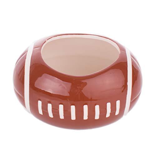 Burton and Burton SS-BNB-974016 974016 Small Football Ceramic Planter/Bowl, Multicolor