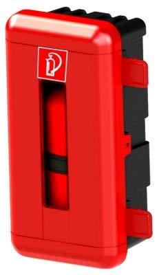 6kg Feuerlöscher Schutzbox l LKW PKW Auto Garage Haus l Kunststoff Sichtfenster abschließbar Kasten