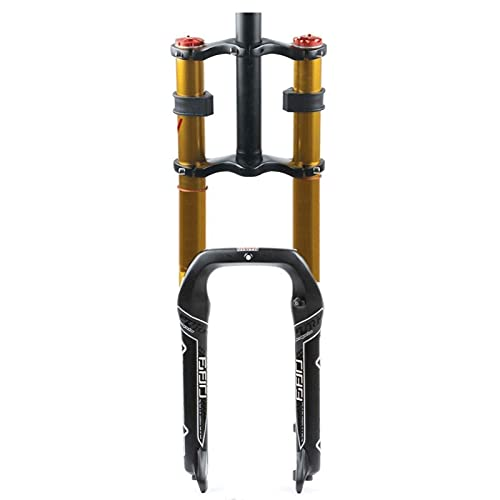 VTDOUQ Horquilla de Bicicleta 20 Pulgadas presión de Aire Control de Hombro Doble BXM suspensión Cuesta Abajo DH Tubo Recto Amortiguador de Bicicleta