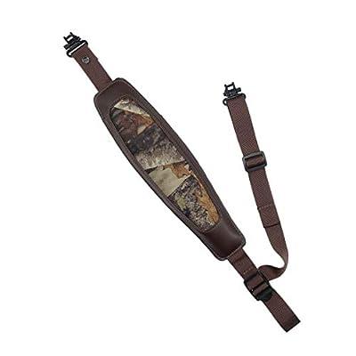 AtacPro Xhunter Camo Wide Adventure Foam Padded Shotgun Rifle Gun Sling W Heavy Duty Swivel