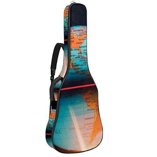 Bolsa para Guitarra Globo del mapa de la tierra Funda para Guitarra...