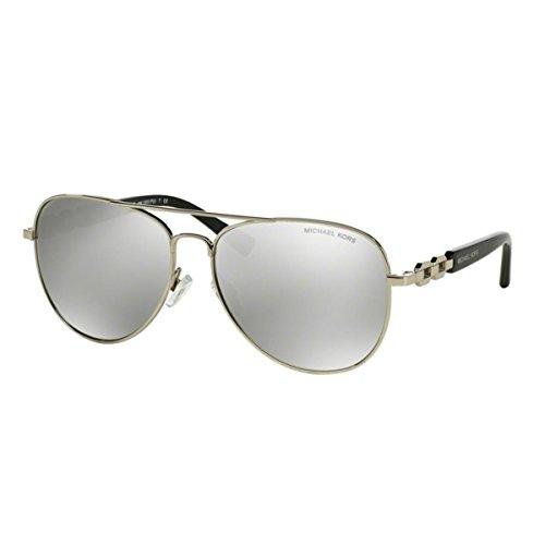 Michael Kors Damen Fiji MK1003 Sonnenbrille, Silber (silber-silber verspiegelt 10016G), Large (Herstellergröße: 58)