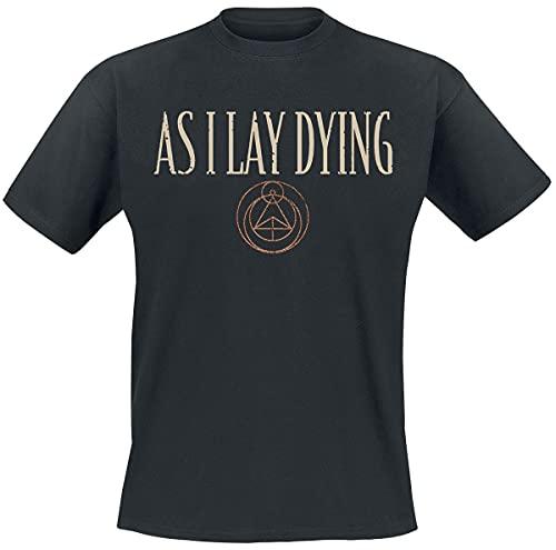 As I Lay Dying Skulls Uomo T-Shirt Nero S 100% Cotone Regular