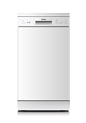 Amica GSP 14746W Semi integrierter 9places A + + Spülmaschine–Geschirrspülmaschinen (Semi Integriert, weiß, Slimline (45cm), Knöpfe, 1,5m, 1,5m)
