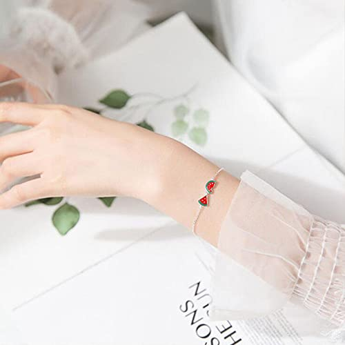 Verano Fruta Pulsera Mujer Sensual Simple Salvaje Asimétrica Chica Corazón Borla Pulsera