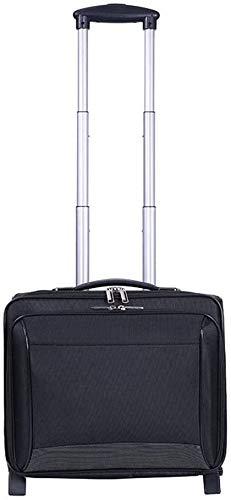 Caja de equipaje expandible de dos ruedas 16 pulgadas Maleta de rodadura lateral duro Equipaje Maleta de embarque,Black