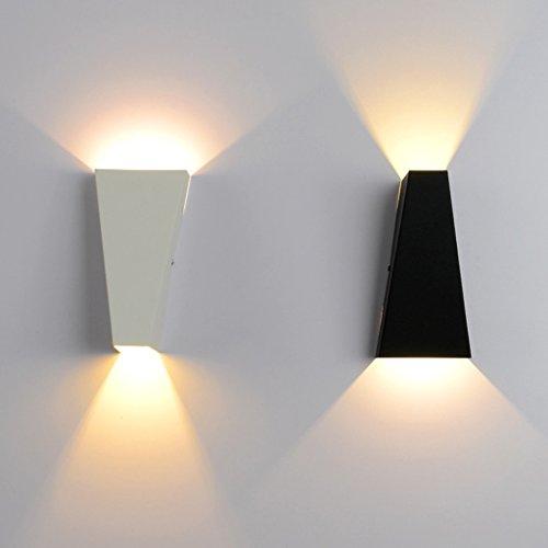 XinQing-Lámparas de Pared Luces de Lavado de Pared Lámpara de Dormitorio de LED Dormitorio Lámpara de baño Creativa de Estilo de Vida (luz cálida)