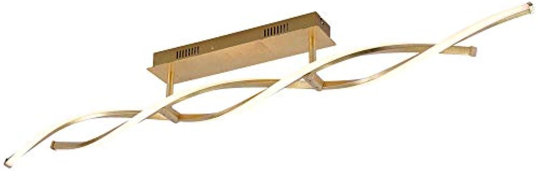 LED Design Decken Lampe Wohn Zimmer Beleuchtung SimplyDim Dimm Funktion Gold Paul Neuhaus 9243-12