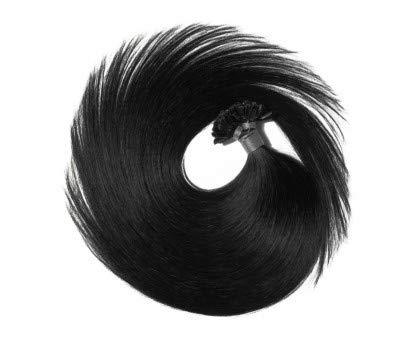 Extensions kératine Noir - 100 méches - 0,8g - 60cm