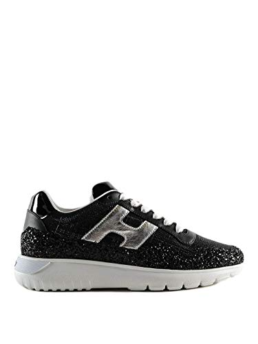 Hogan Luxury Fashion Damen HXW3710AP31KKR0353 Schwarz Leder Sneakers | Jahreszeit Outlet