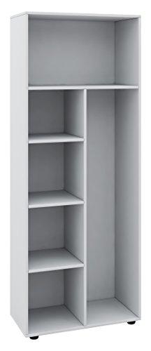 """VCM Schrank Universal Staubsauger Besenschrank Mehrzweckschrank Putzschrank Holz weiß 178 x 70 x 40 cm \""""Vandol\"""""""