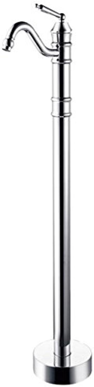 Gowe Boden montiert Badezimmer Badewanne Wasserhahn Runde Dose Filler Spültisch Einhebelmischer,