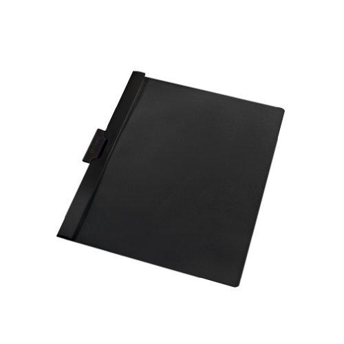 Herlitz 10312486 Klemmhefter 30 Blatt schwarz, PVC 5er Packung